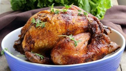 طريقة عمل دجاج مشوي بالفرن - Roasted chicken recipe