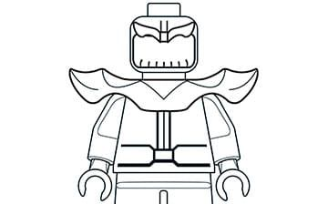 Mighty Micros Thanos Marvel Coloring Coloring Pages Lego Coloring