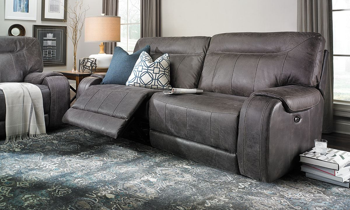 Pasadena Power Reclining Top Grain Leather Sofa Perfect For