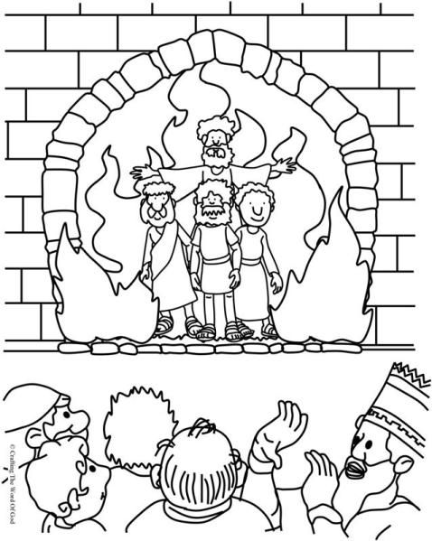 - The Fiery Furnace Coloring Page Sunday School Coloring Pages, Bible  Crafts, Bible Coloring Pages