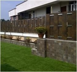 Boundary wall with planter google search boundary for House outer wall design