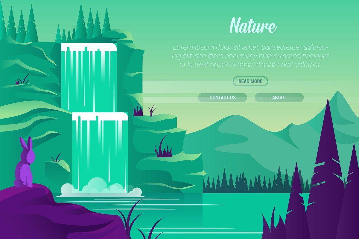 Nature Vector Landscape Building Nature Vector Save Nature Art Wallpaper