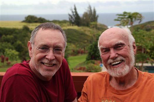 Ram Dass & Krishna Das beautiful friends, beautiful kirtan