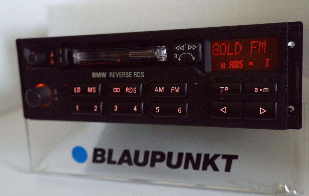 Bmw Blaupunkt Reverse Rds Tape Radio 7643836340 E28 E30 E31 E32