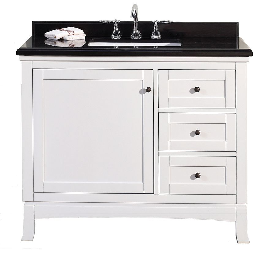 Ove Decors Ove Sophia 42 Valega White Single Basin Bathroom Vanities Efaucets Com In St Granite Vanity Tops Single Sink Bathroom Vanity Bathroom Sink Vanity