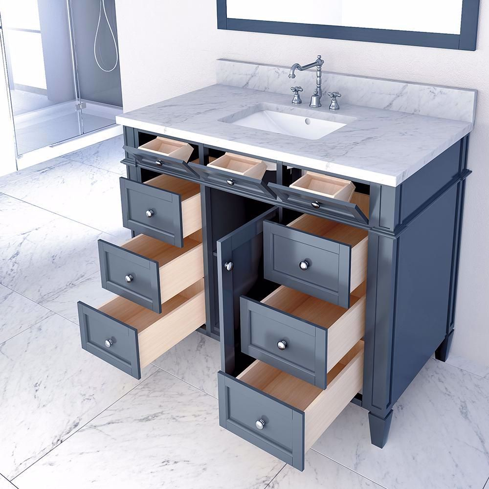 42 Inch Bathroom Vanity In 2020 Single Bathroom Vanity Bathroom