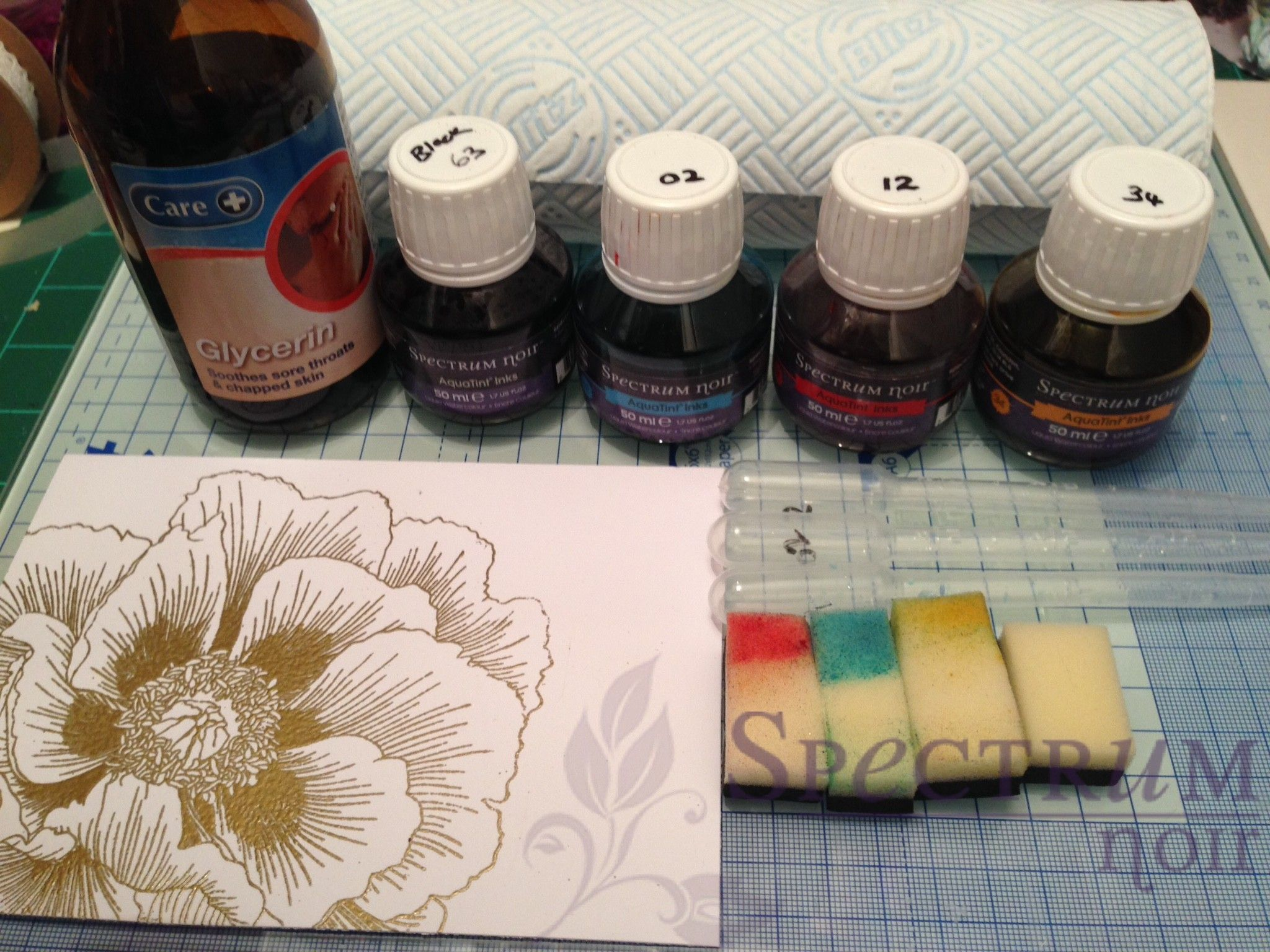 Glycerin And Aquatints Background Tutorial By Nicky Spectrumnoir Tutorial