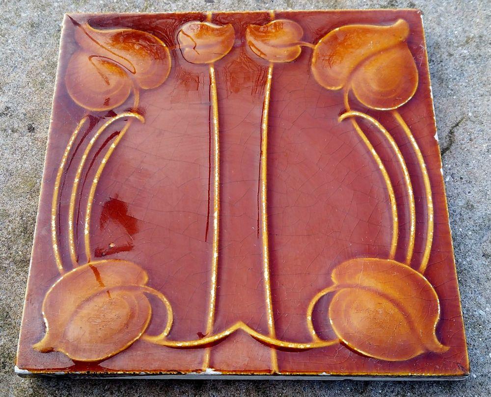 Superb original genuine art nouveau ceramic tile hr johnson patent superb original genuine art nouveau ceramic tile hr johnson patent 12309 dailygadgetfo Gallery