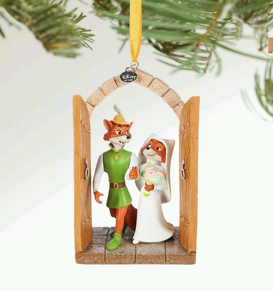 Disney Parks Store Robin Hood And Maid Marian Sketchbook Ornament Wedding Bride Disney Disney Christmas Ornaments Disney Ornaments Sketchbook Ornaments