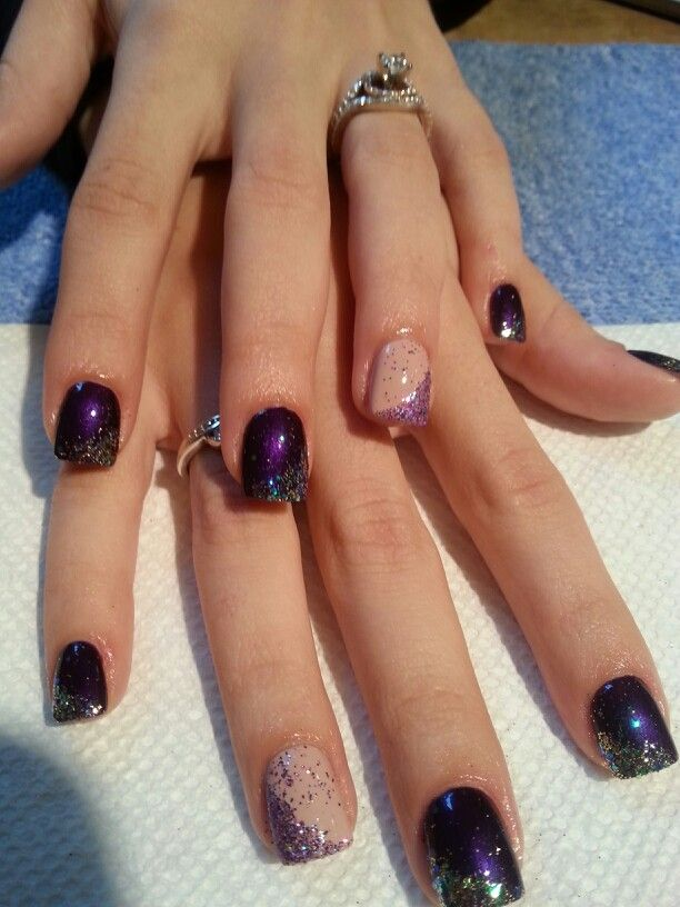 Wedding Nails Bridesmaid Purple Wedding Nails Wedding Day
