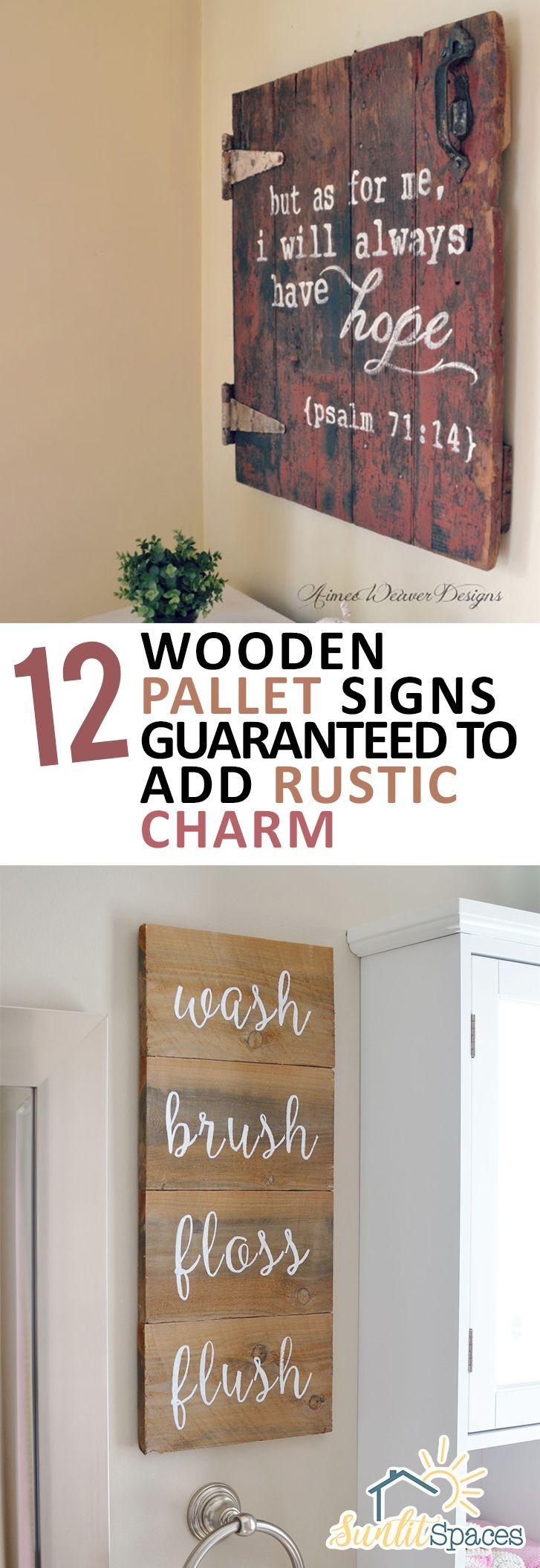 Photo of 12 Wooden Pallet Signs Guaranteed to Add Rustic Charm – Sunlit Spaces | DIY Home Decor, Holiday, and More