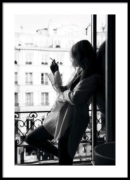 Photo of Smoking in Paris Poster