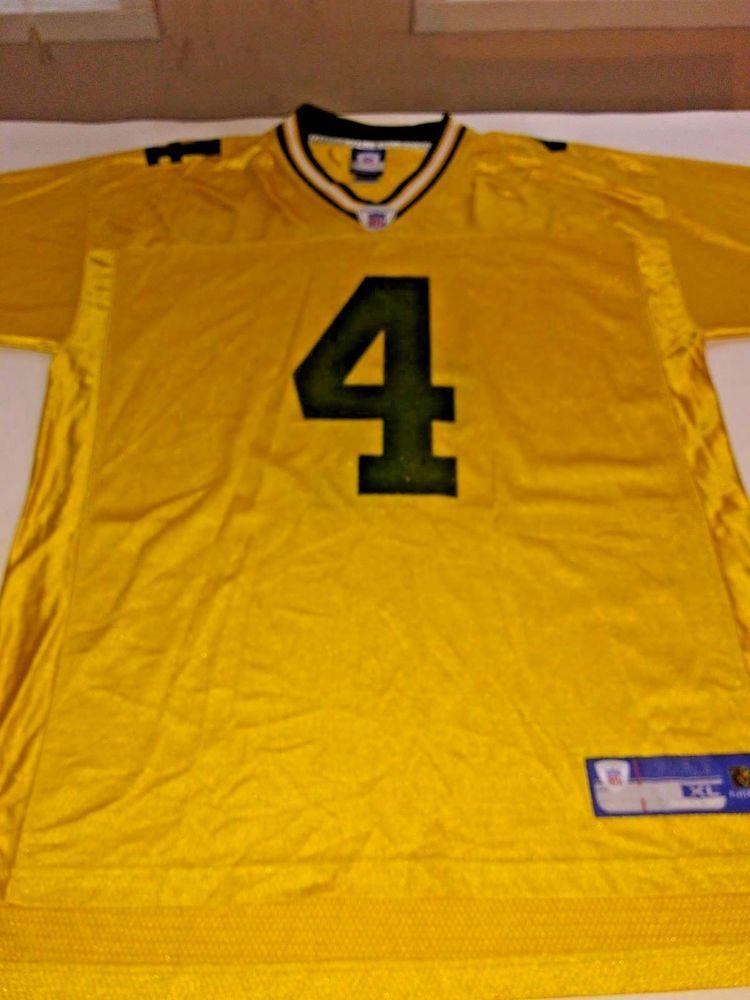 brand new 25322 06775 Brett Favre Green Bay Packers Yellow Jersey Reebok XL ...