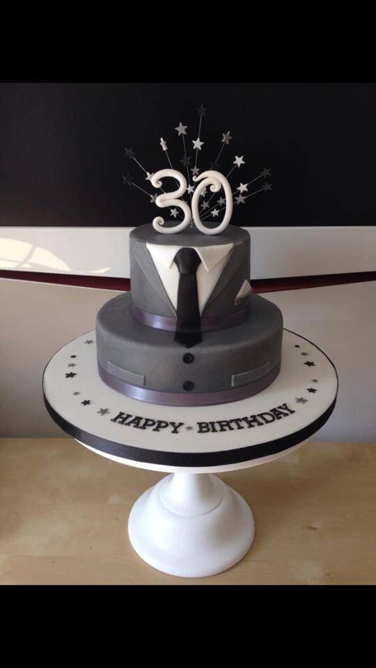 Pleasing Male 30Th Birthday Cake With Images 30Th Birthday Cakes For Funny Birthday Cards Online Elaedamsfinfo