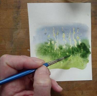 Vivian Swift painting rain