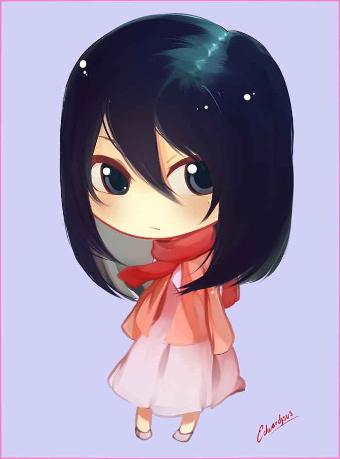 Mikasa Chibi by EdwardJsus on DeviantArt in 2020 Chibi