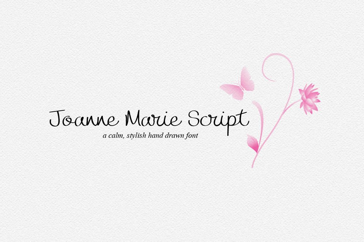 Calligraphy font Joanne Marie Script font elegant fonts Wedding font ...