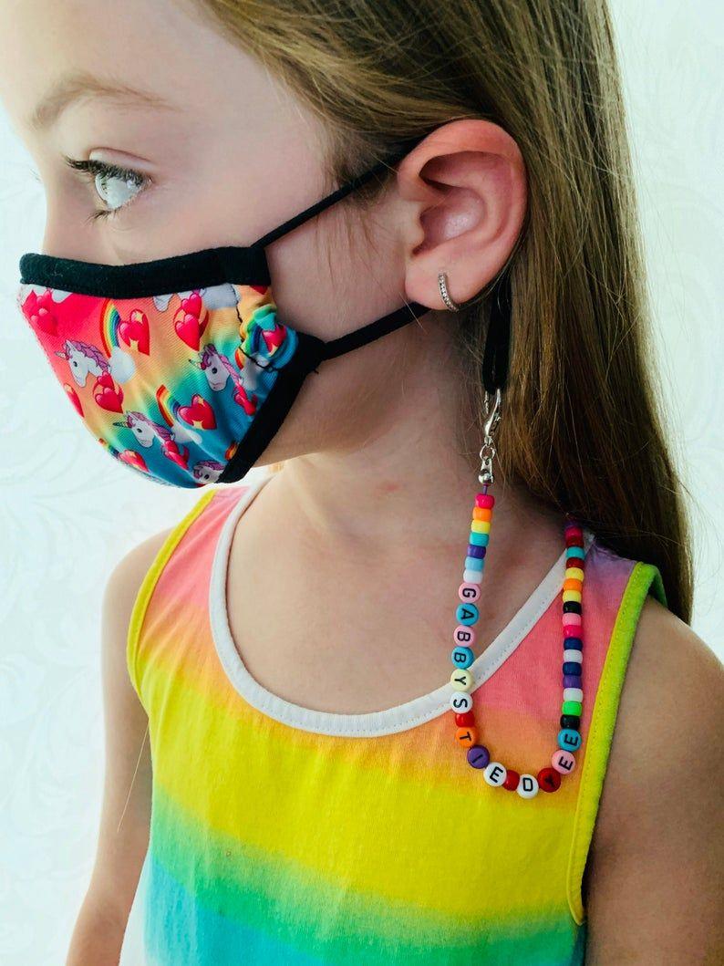 Kids Beaded Mask Lanyard