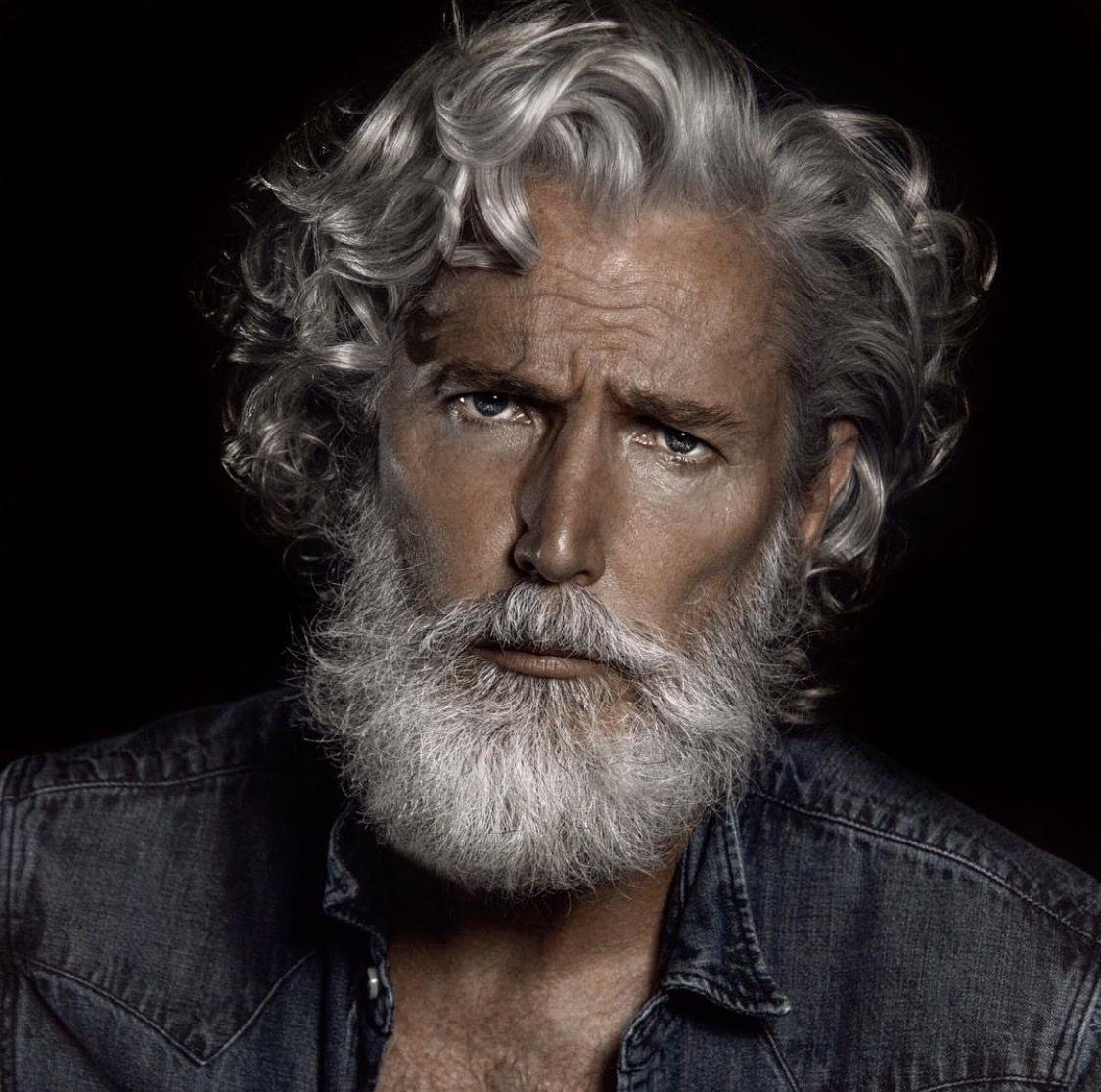 Www Edodream Work Grey Hair Men Curly Hair Men Mens Hairstyles With Beard