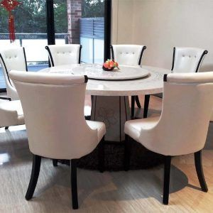 Large Round Dining Table 8 Chairs