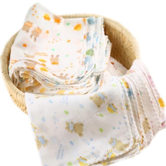 Infant Newborn Soft  Breathable Bath Towel Feeding Wipe Cloth Washcloth Gauze