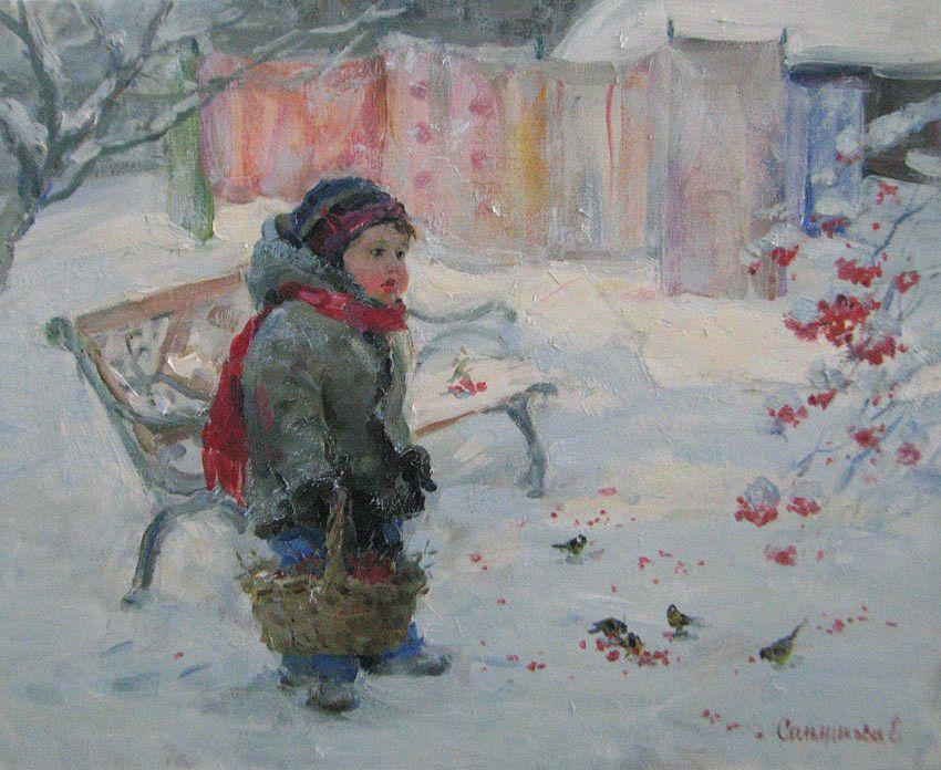 картинки художников зима детям