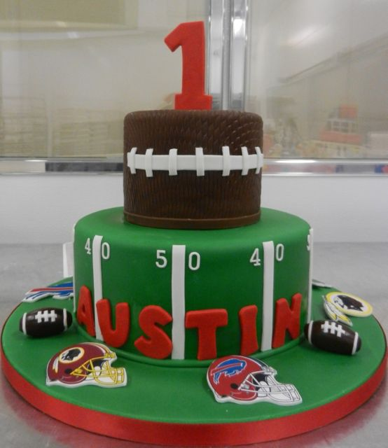 First Birthday Football Cake @Suzee Collinsworth