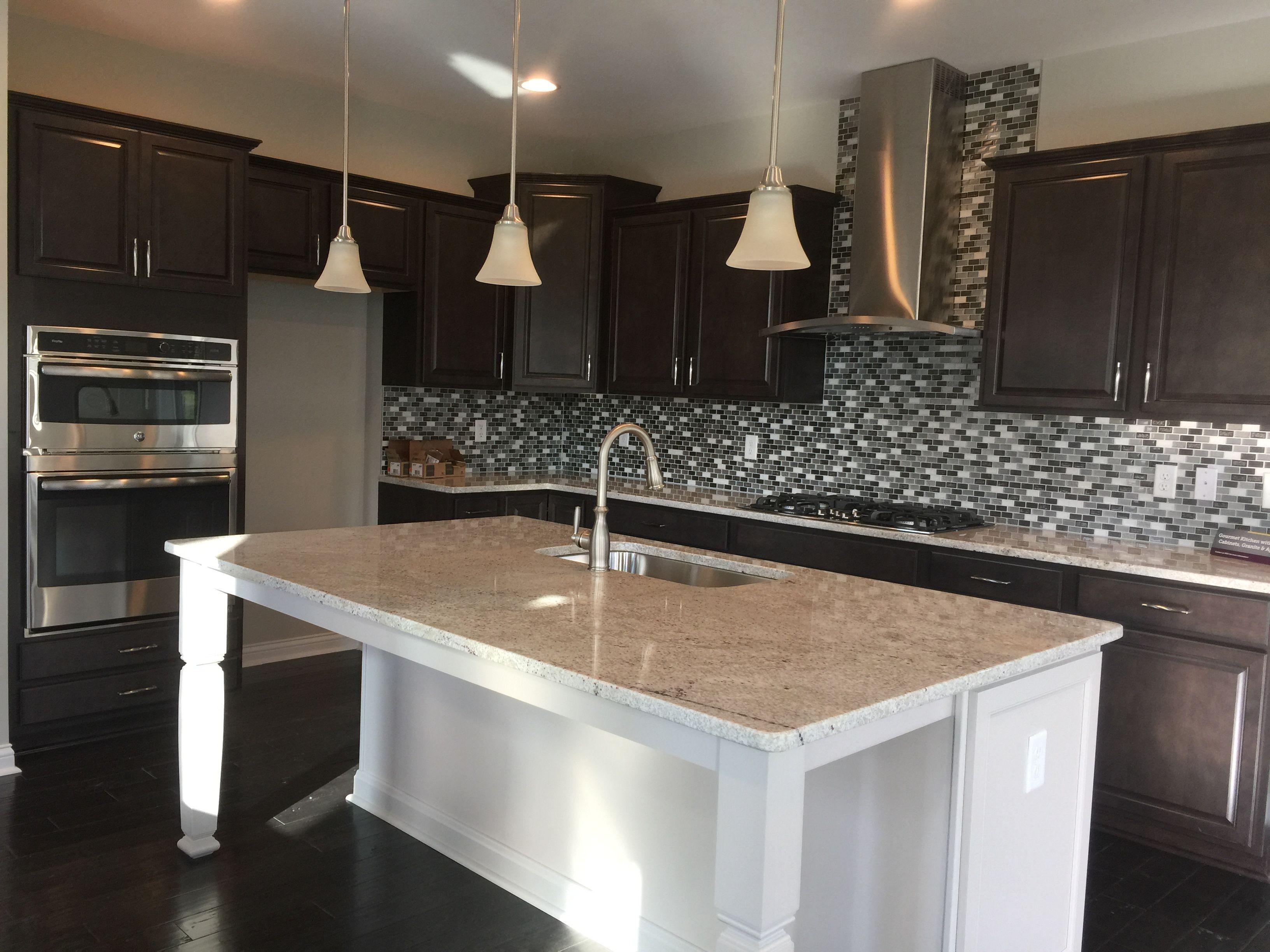 Gourmet Kitchen Radford Flagstone Perimeter Cabinets Lillian Pure Style Glacier Gray Island Cabinets Luxury Kitchens Kitchen Gourmet Kitchens