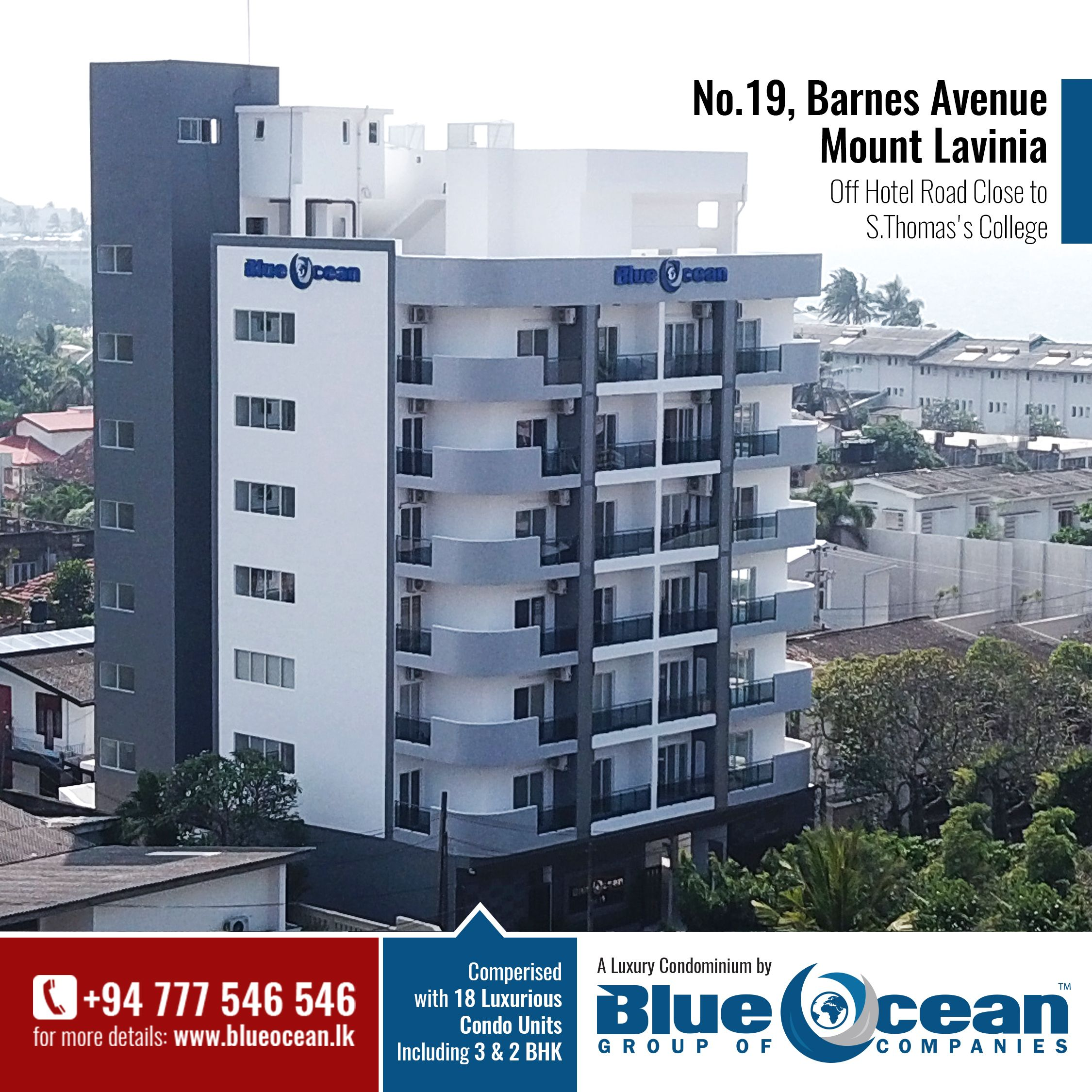 One of the Our Luxury Apartment Complexes from the Blue