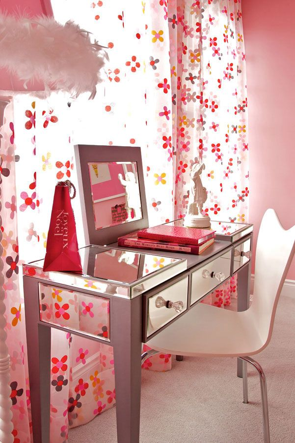 Decent Study Rooms: The Room Is So Good For The Kids Who Love Pink Designs