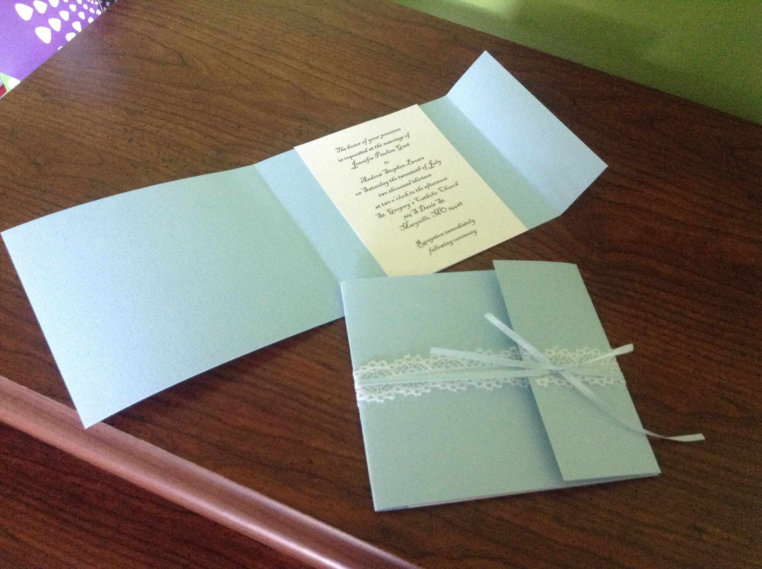 Homemade wedding invitations outdoor wedding ideas pinterest