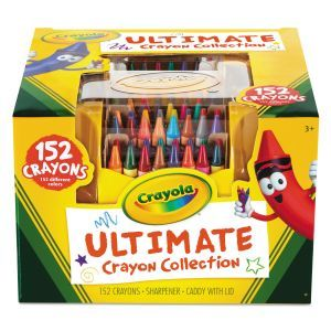 """Crayola Ultimate Crayon Collection  - 3.6"""" x 0.31"""" - Assorted Colors - 152/ Box - Sharpener - Caddy w/ Lid"""