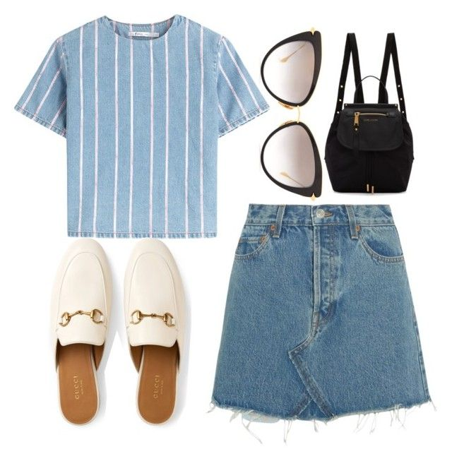 """""""SIMPLE"""" by anne-belen-co ❤ liked on Polyvore featuring Dita, T By Alexander Wang, RE/DONE, Gucci and Marc Jacobs"""