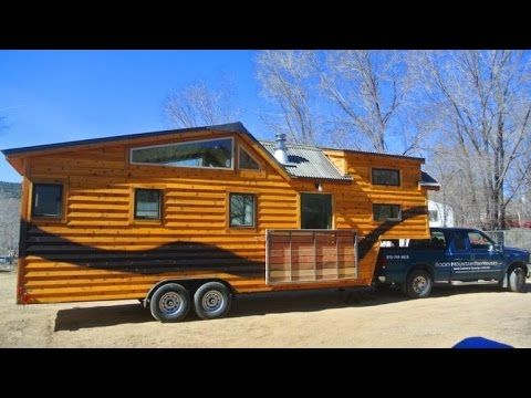 I love the roofline! Cutoff the house right about where the gooseneck starts, and that's the profile I want. Great for rainwater catchment..... The Rio Grande tiny house sits gooseneck trailer - YouTube