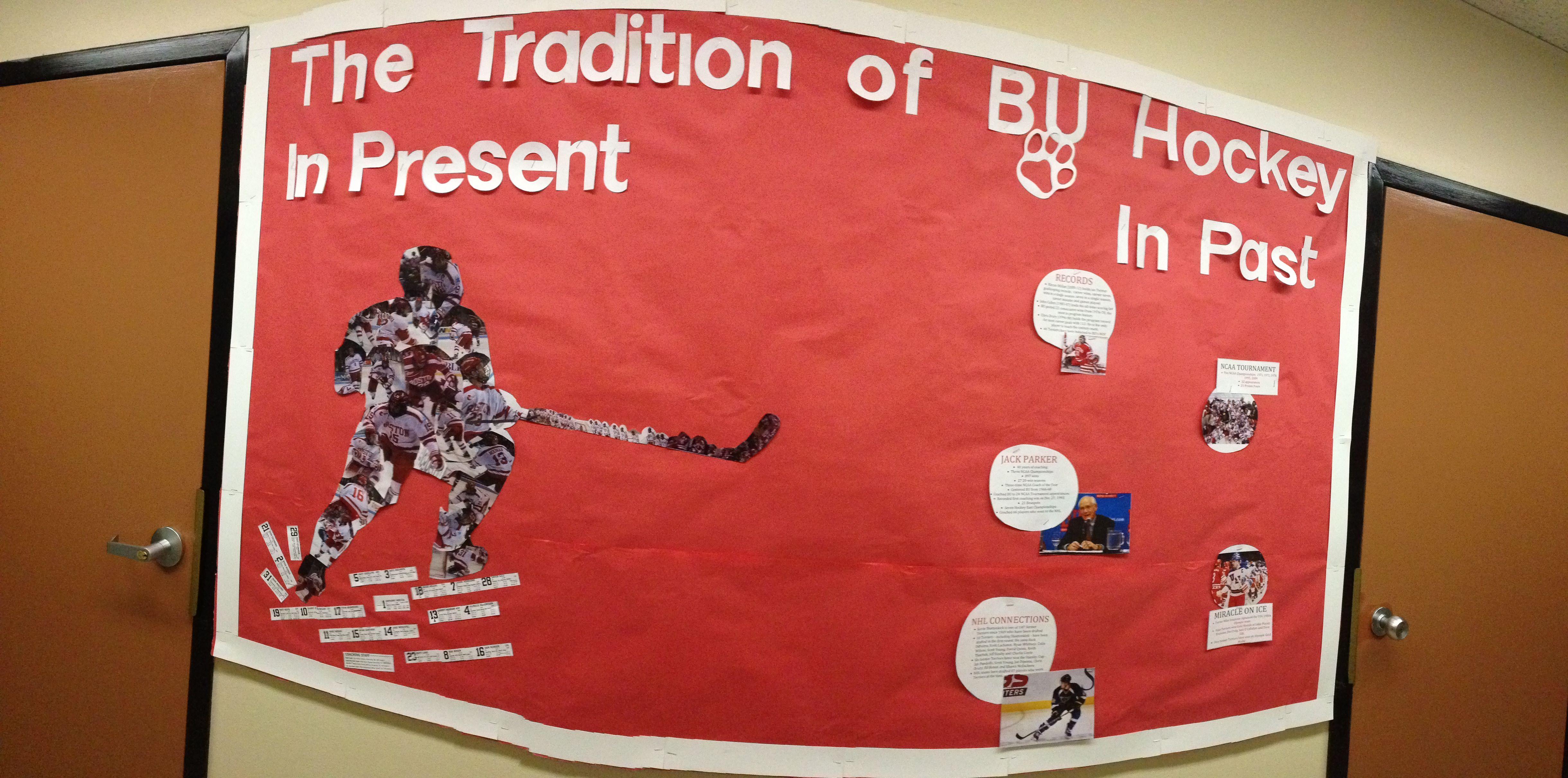 My Last Bulletin Board The Tradition Of Bu Hockey