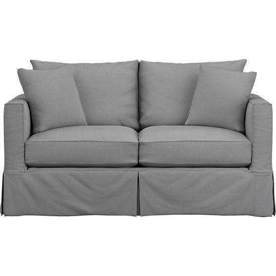 willow modern slipcovered full sleeper sofa with air mattress rh pinterest com