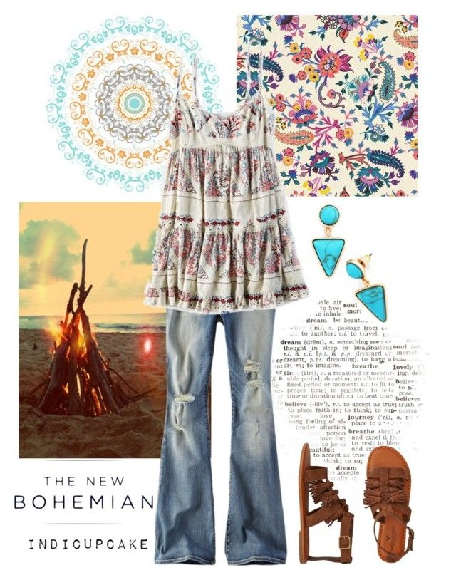 """The New Bohemian with American Eagle Outfitters: Contest Entry"" by indicupcake ❤ liked on Polyvore featuring American Eagle Outfitters and aeostyle"