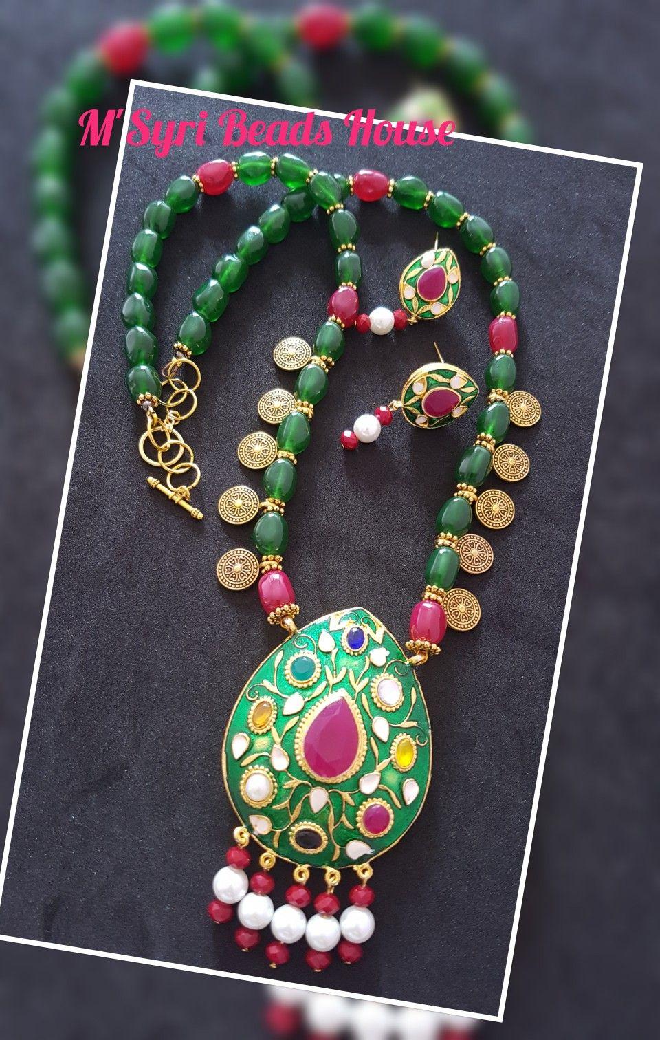 Navratna Necklace Jewelry Patterns Beaded Jewels Beaded Jewelry Designs