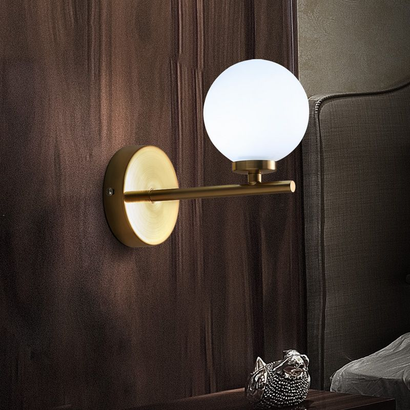 Nordic Modern Brief Fashion Personally Round Glass Led Wall Sconce Stunning Modern Bathroom Wall Sconce Decor