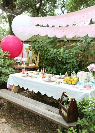 De fiesta al aire libre fiesta en casa pinterest - Cumpleanos al aire libre ...