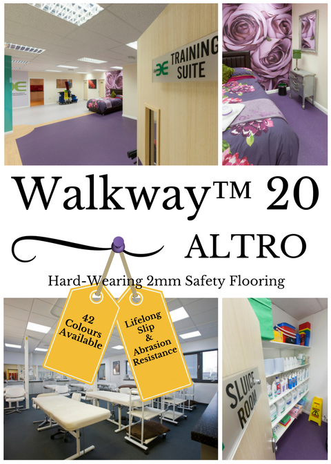 Altro Walkway is a hardwearing 2mm safety flooring which