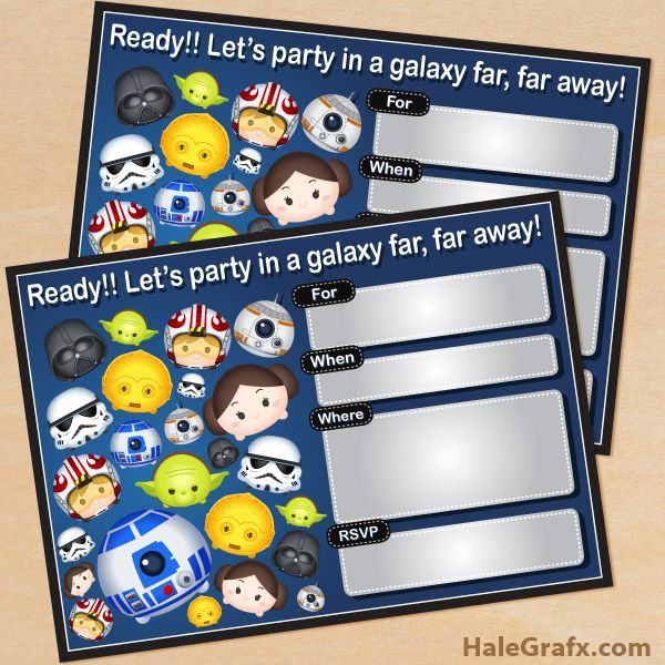 Free Printable Star Wars Birthday Invitations | Star Wars Party ...