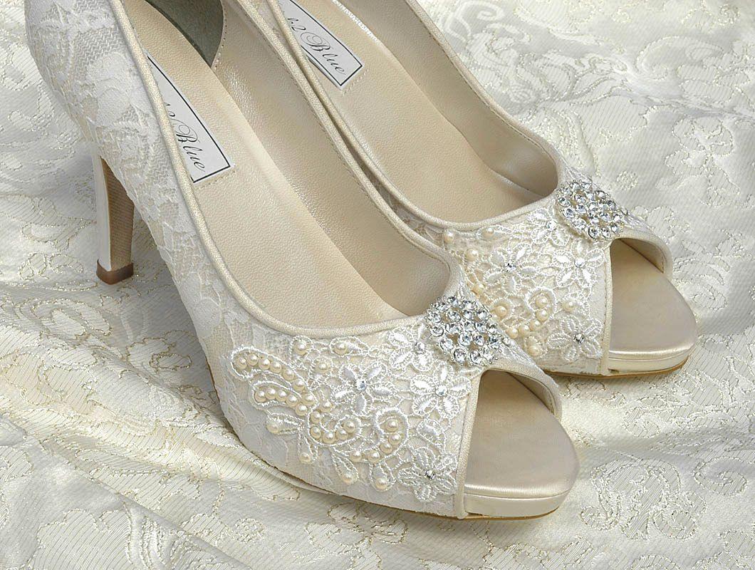 c6130f91828 Lace Wedding Shoes - FREE Custom Colors Women's Shoes, Bridal ...