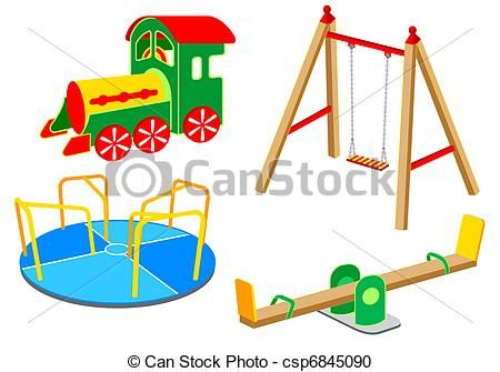 vector playground equipment set 1 stock illustration royalty rh pinterest com playground clip art free printable playground clip art free printable