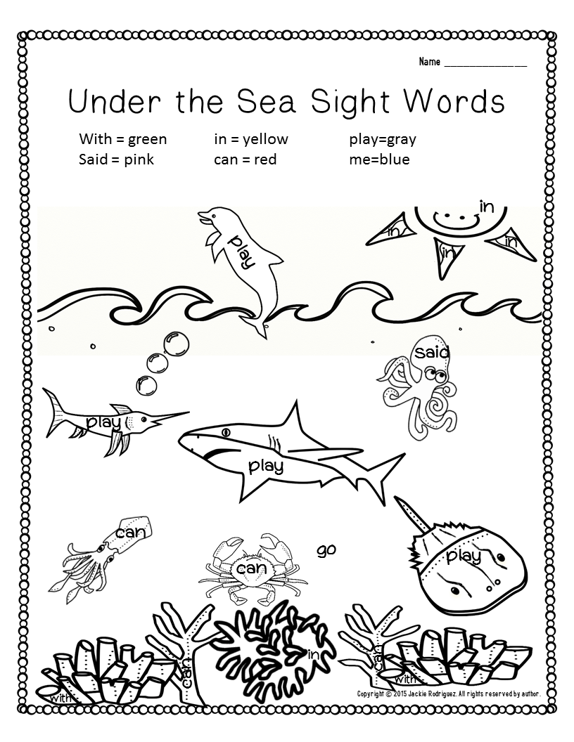 Ocean Math and Literacy Packet | Emergent readers, Reading ...