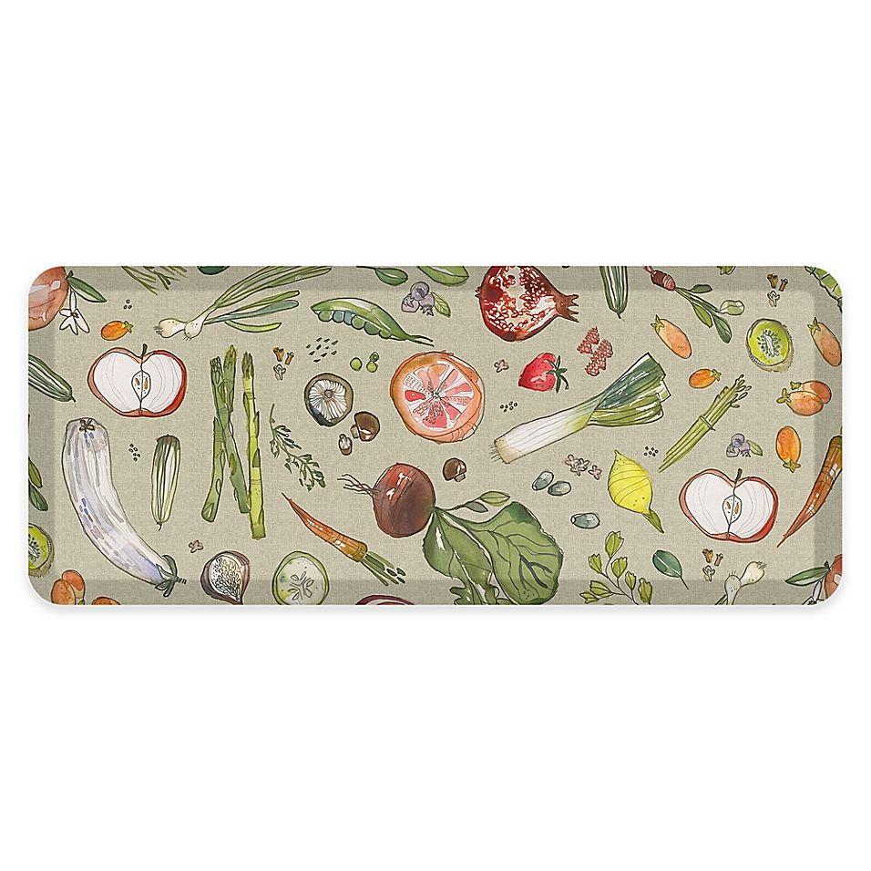 Gelpro 20 X 48 Fruit Vegetable Anti Fatigue Kitchen Mat In