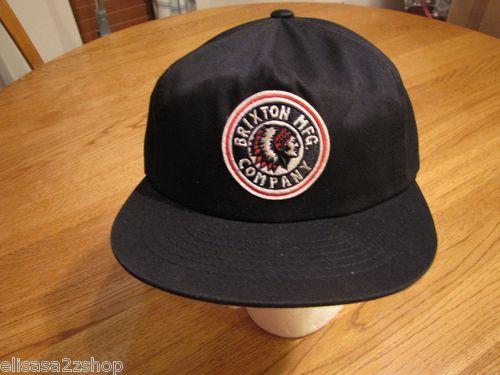 Men s BRXTN cap hat Indian Head snap RARE Brixton MFG company Rival NEW  black ef4d46762688
