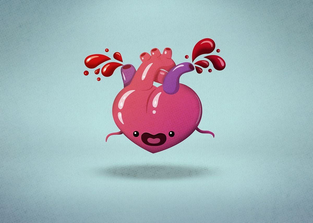 Bleeding heart on Behance