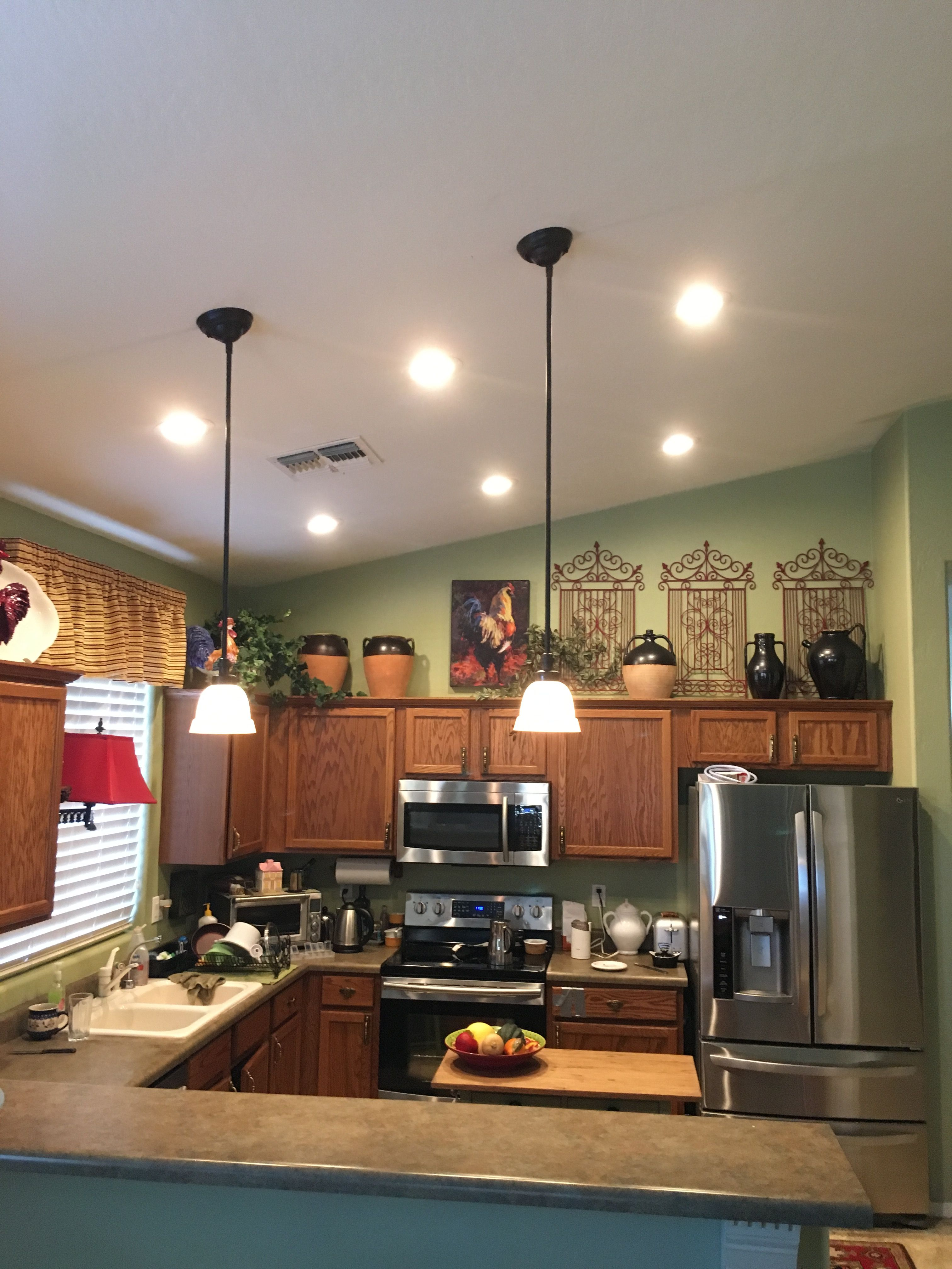 Install Recessed Lighting In A Kitchen: AZ Recessed Lighting Installation Of LEDs In Kitchen. AZ
