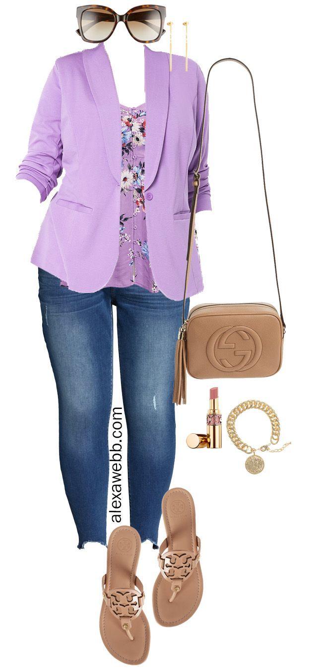 Photo of Plus size lavender blazer outfit ideas – Alexa Webb